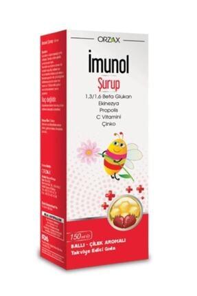 Orzax Imunol Ballı Çilek Aromalı Şurup 150 ml