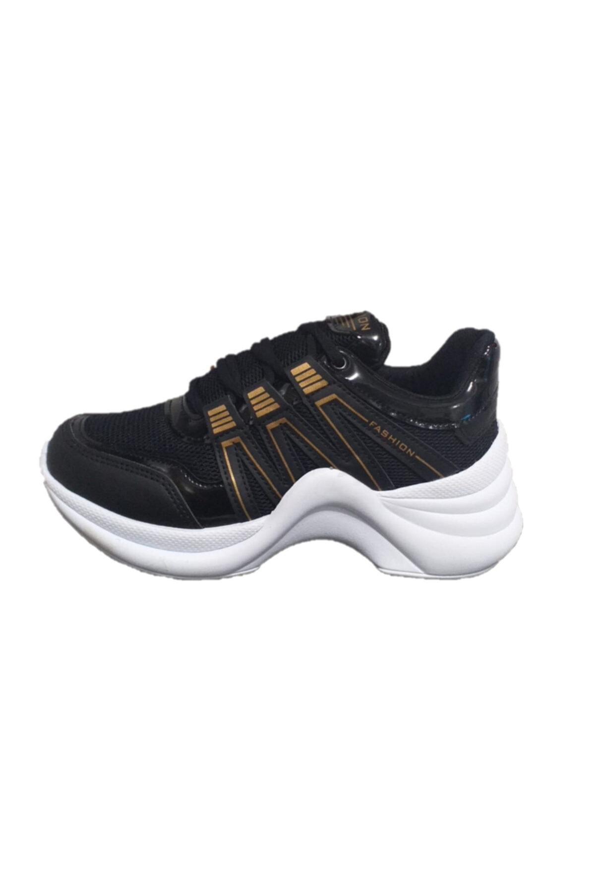 Twingo 602 Siyah Sarı Kadın Spor Ayakkabı 1