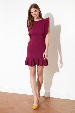 TRENDYOLMİLLA Mor Fırfır Detaylı Elbise TWOSS19XB0075