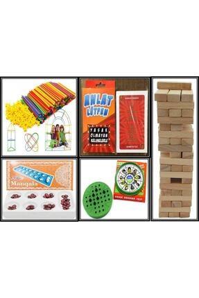 Sisimo Akıl ve Zeka Oyunları Bambu Çubukları 300 Parça - Lütfen Anlat - Solo Test - 54 Parça Jenga - Mangala Oyunu