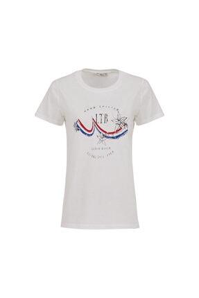 Ltb Kadın BEYAZ T-SHIRT  012218038560890000