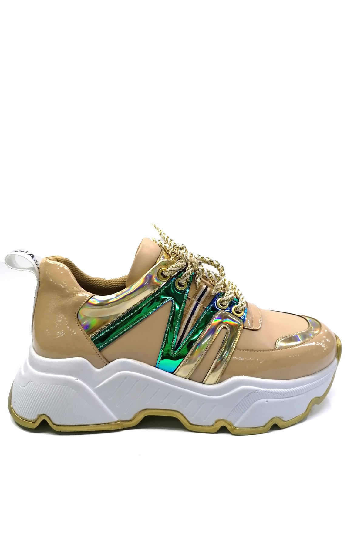 Meshure Kadın Bej Sneaker 1