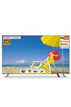 """TELENOVA 85S4K8001 85"""" 215 Ekran Uydu Alıcılı 4K Ultra HD Smart LED TV"""
