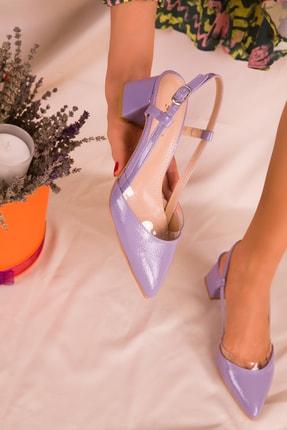 SOHO Lila Rugan Kadın Klasik Topuklu Ayakkabı 14656