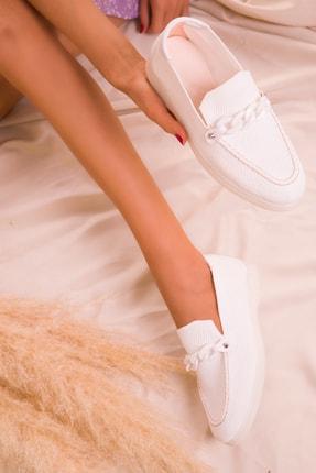 SOHO Beyaz  Kadın Casual Ayakkabı 16039