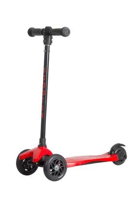 Scooter Üç Tekerlekli , Frenli , Yükseklik Ayarlı Kırmızı  Scooter