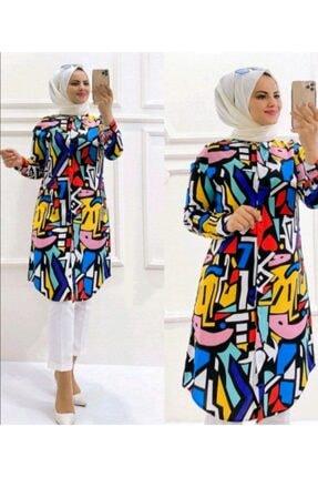 GUUZİA Kadın Yazlık Viskon Gömlek Tunik