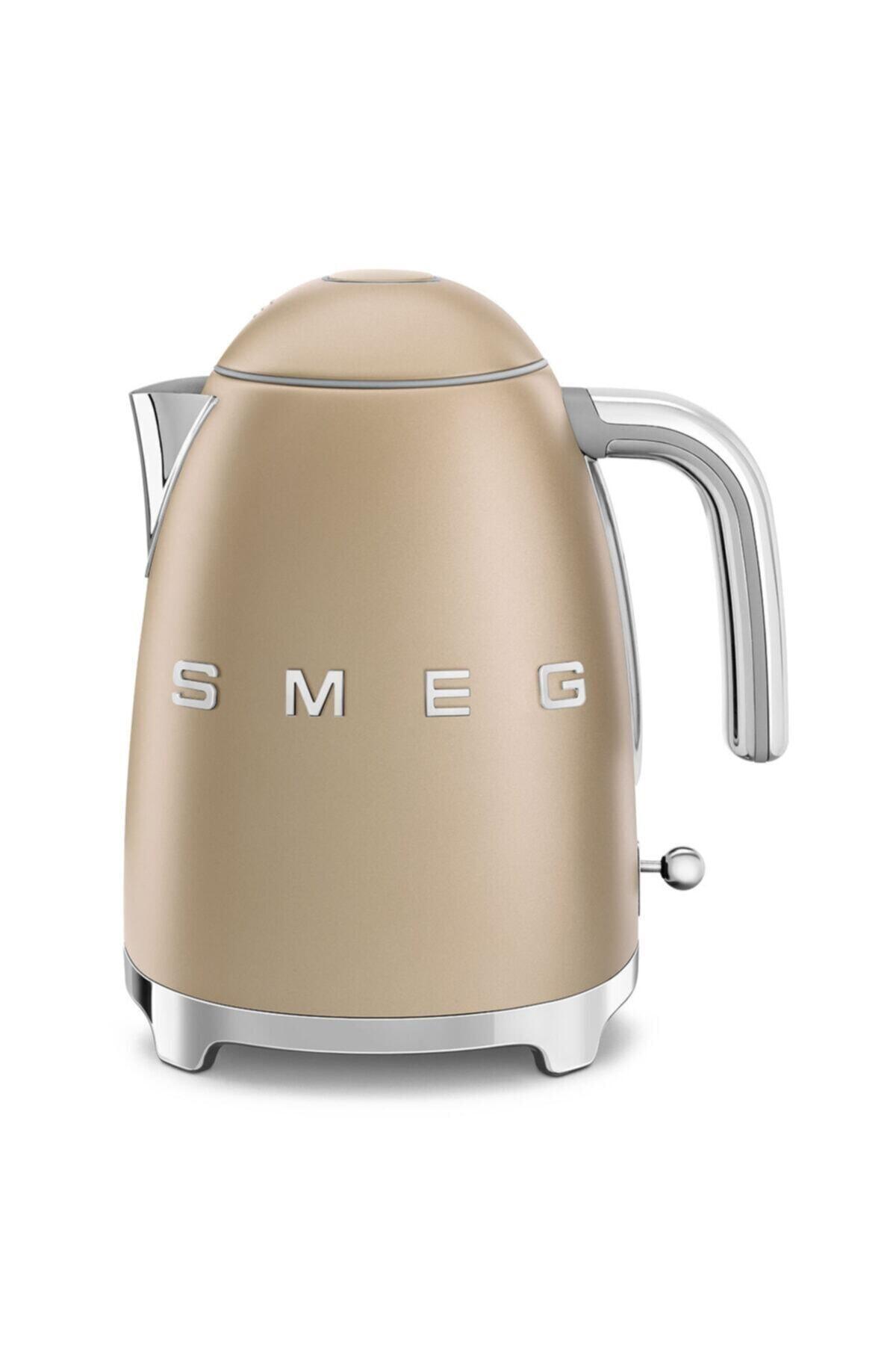 SMEG Altın Paslanmaz Çelik Mat Kettle Su Isıtıcısı Klf03chmeu 1