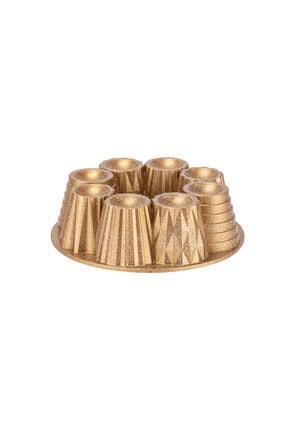 Taç Kupa Granit Döküm Kek Kalıbı Gold