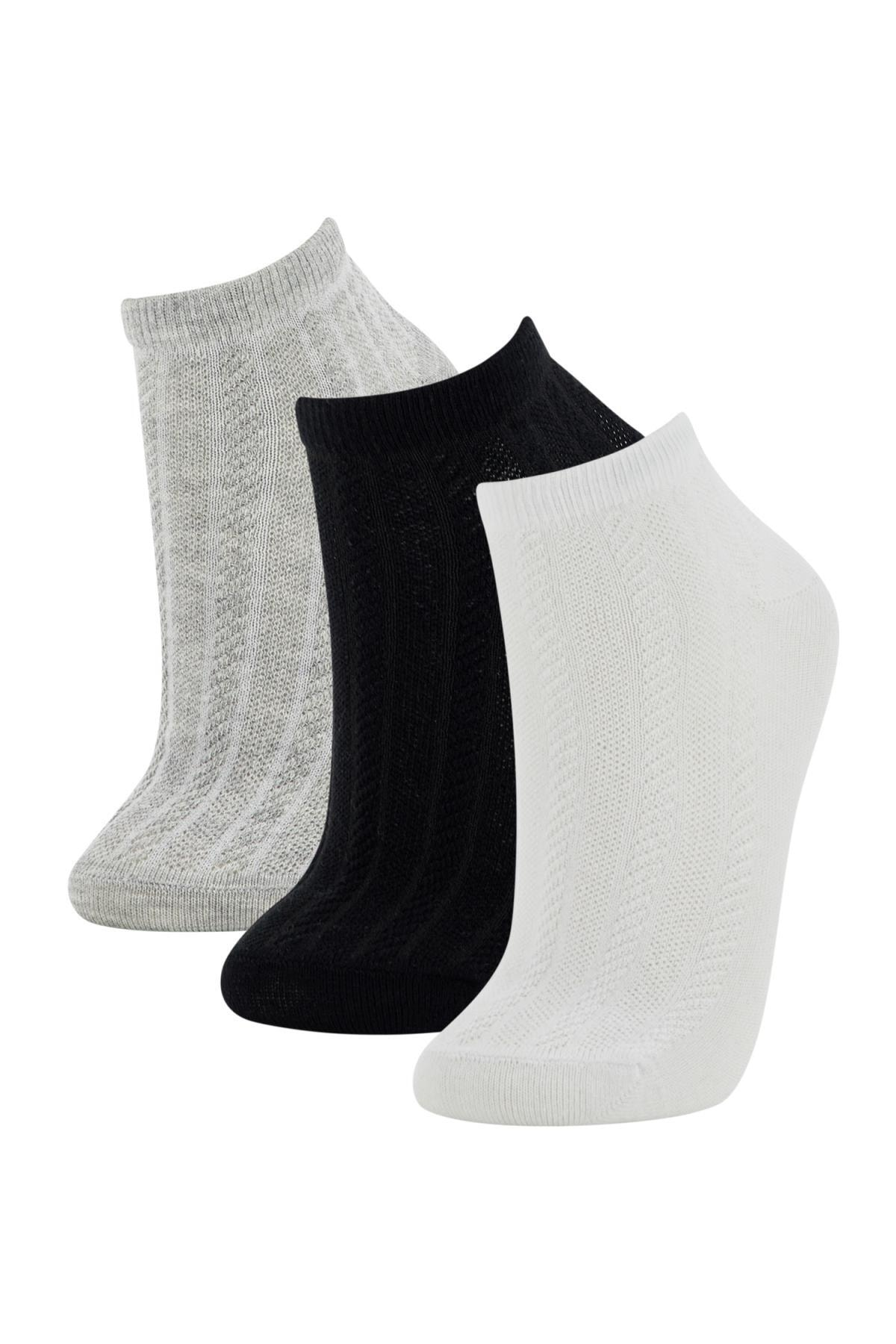 DeFacto Kadın Patik Çorap 3'Lü T7394AZ21SP