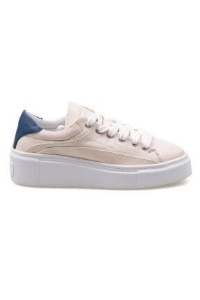 Pegia Kadın Bej Hakiki Deri Sneaker La1607