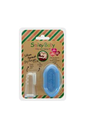biosmile Bio Smile Smiley Baby 0-3 Yaş Silikon Parmak Diş Fırçası Mavi