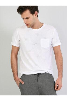 Colin's Beyaz Yuvarlak Yaka Kısa Kol Tişört .CL1041780_Q1.V1_WHT
