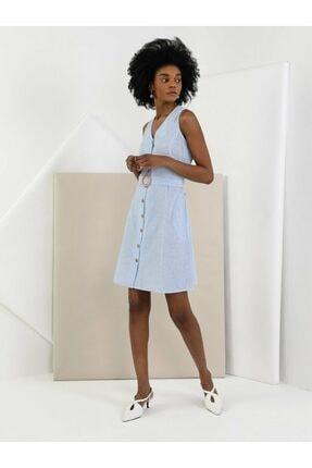 Colin's KADIN Slim Fit Kadın Mavi Elbise CL1049021
