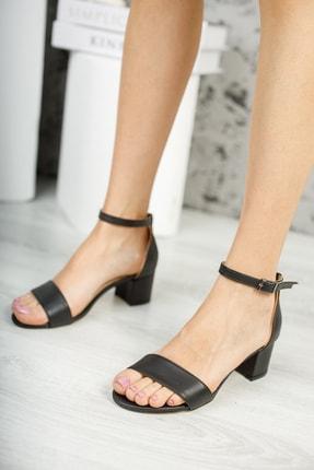MUGGO Siyah Kadın Klasik Topuklu Ayakkabı W709