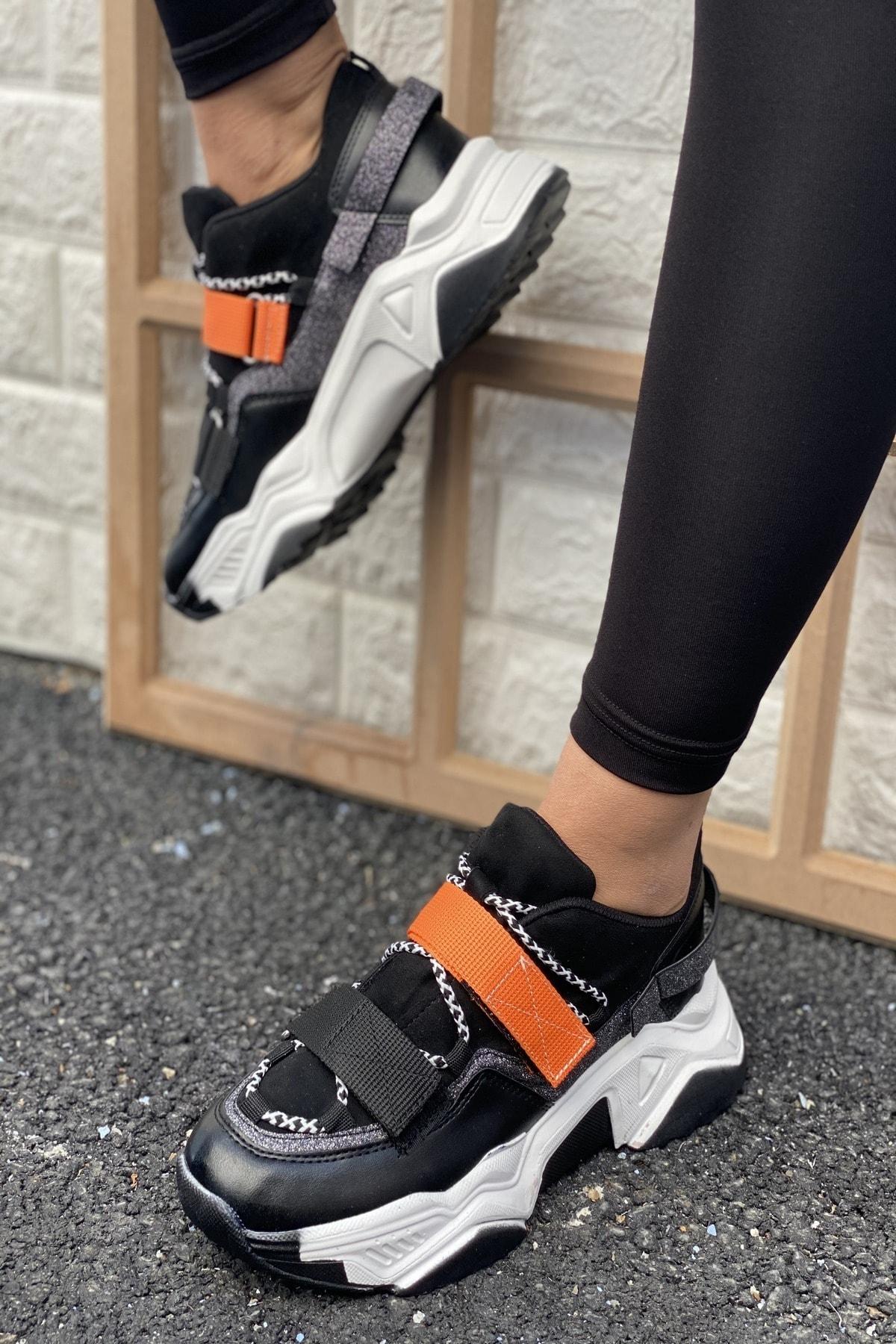 İnan Ayakkabı Cırtlı Sneakers 1