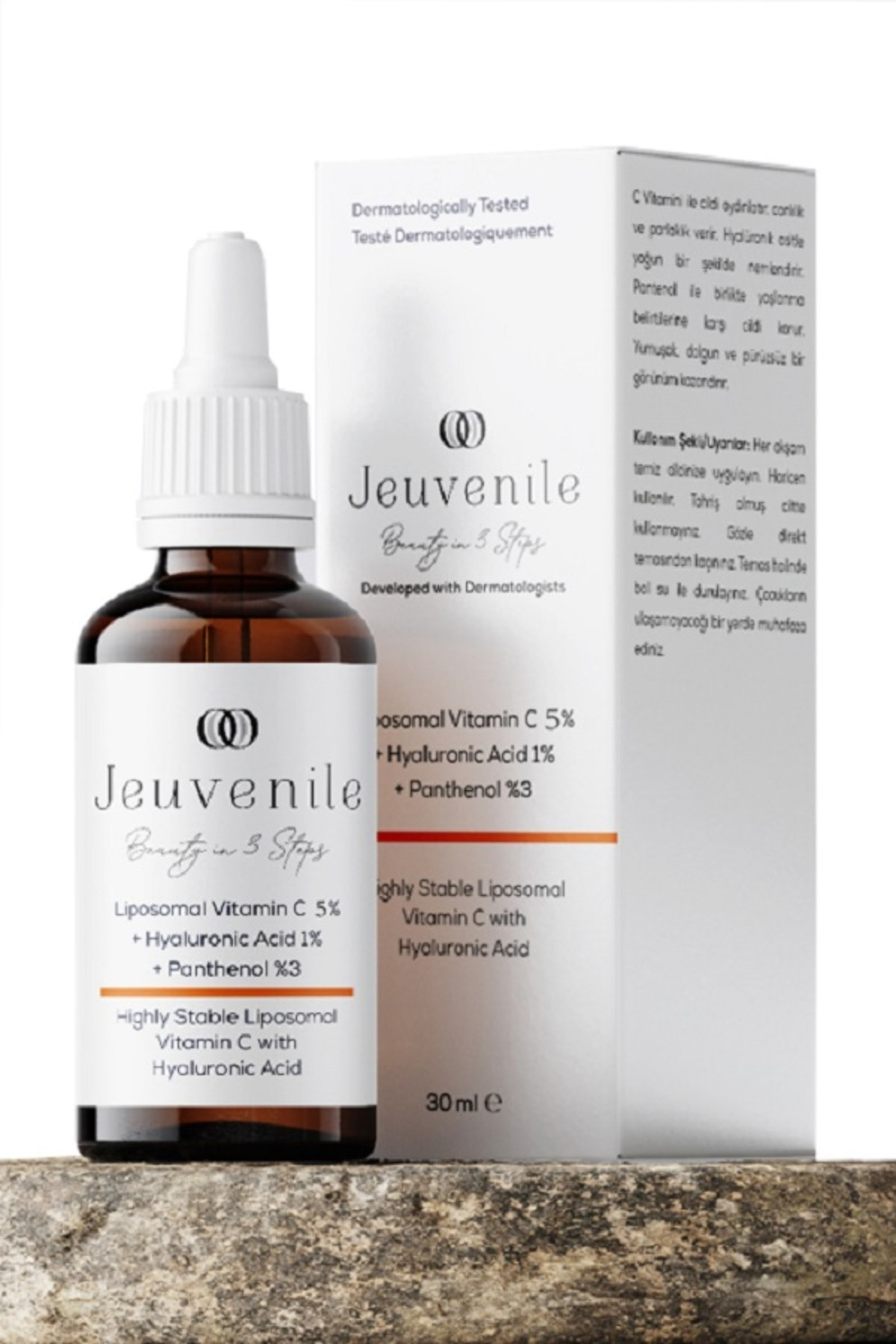 Jeuvenile Liposomal Vitamin C %5 + Hyaluronic Acid %1 + Panthenol %3 C Vitamini Serumu 30 Ml 1