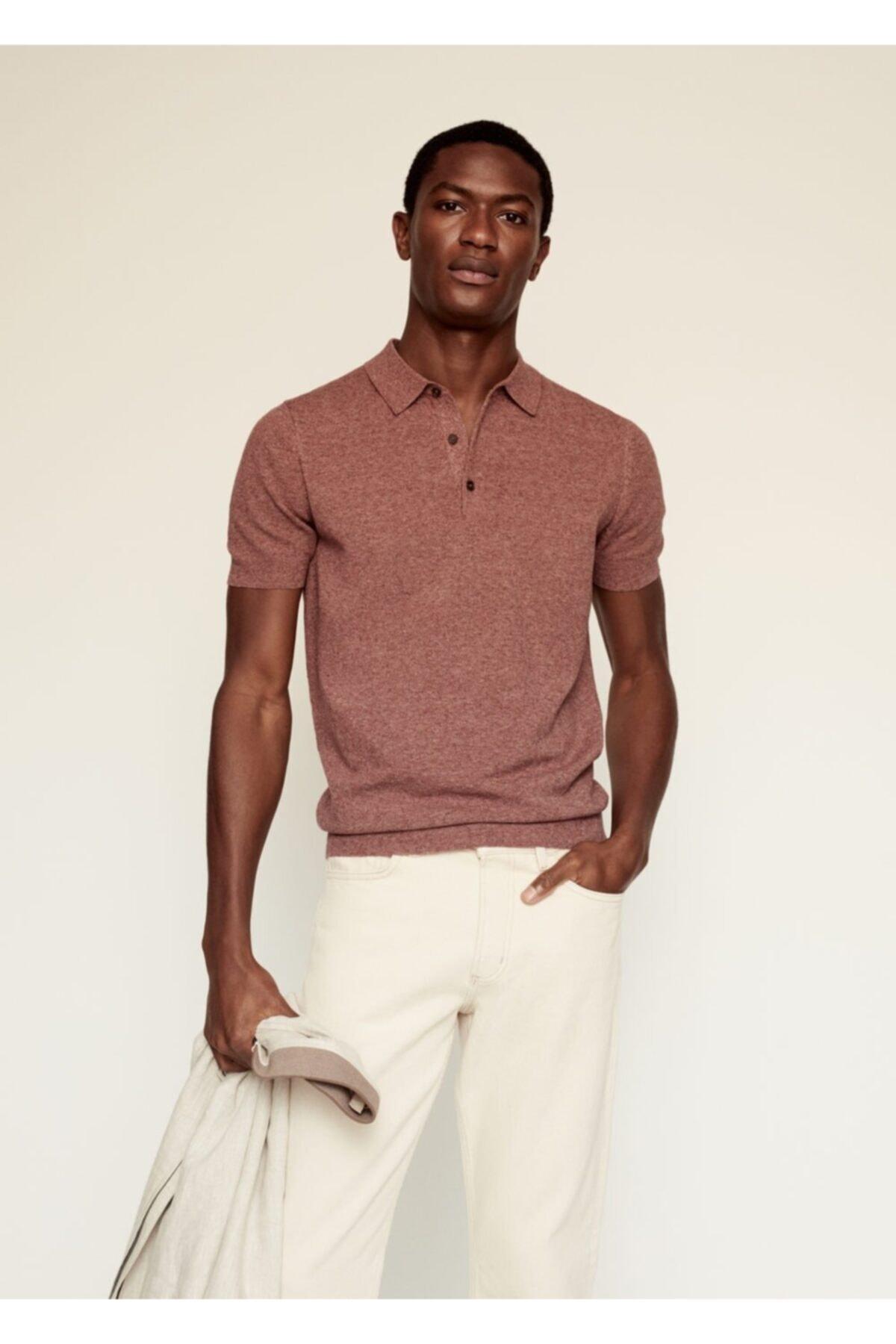 MANGO Man Karışımlı Polo Gömlek 1