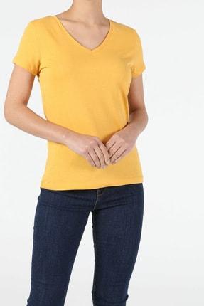 Colin's Sarı Kadın Kısa Kol Tişört