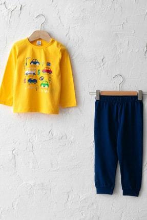 LC Waikiki Erkek Bebek Orta Sarı Fx3 Pijama Takımı