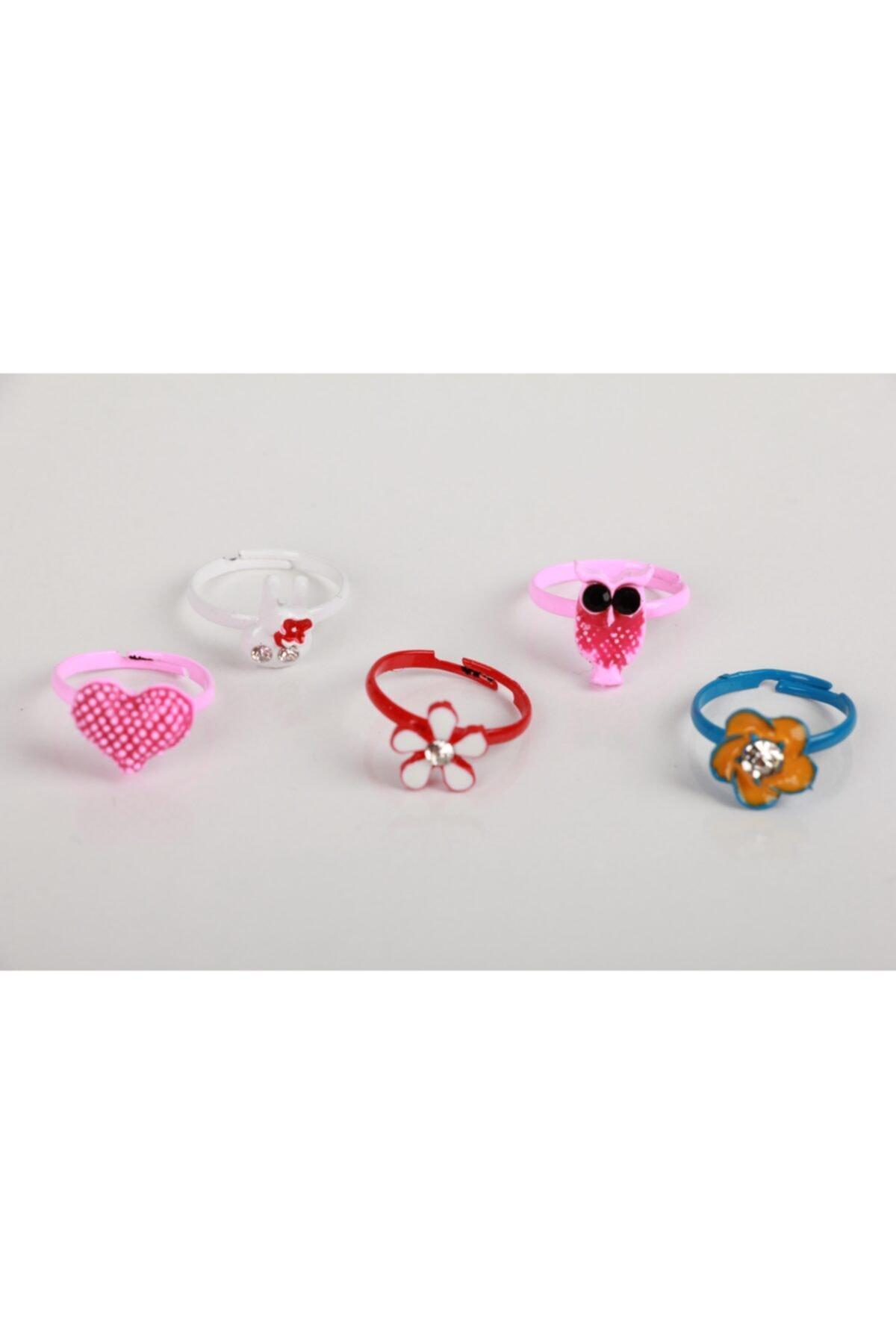 SeaBubbles Kız Çocuk Pembe Yüzük Renkli Set 5li 1