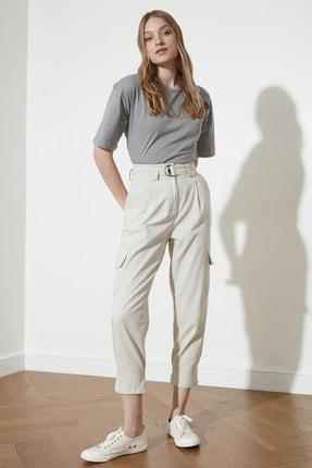 TRENDYOLMİLLA Taş Paça Detaylı Pantolon TWOSS21PL0138