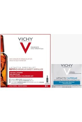 Vichy Vıchy Liftactıv Specıalıst Peptıt-c Leke Karşıtı 10 Ampul + Vıchy Lıftactıve Supreme 50 ml