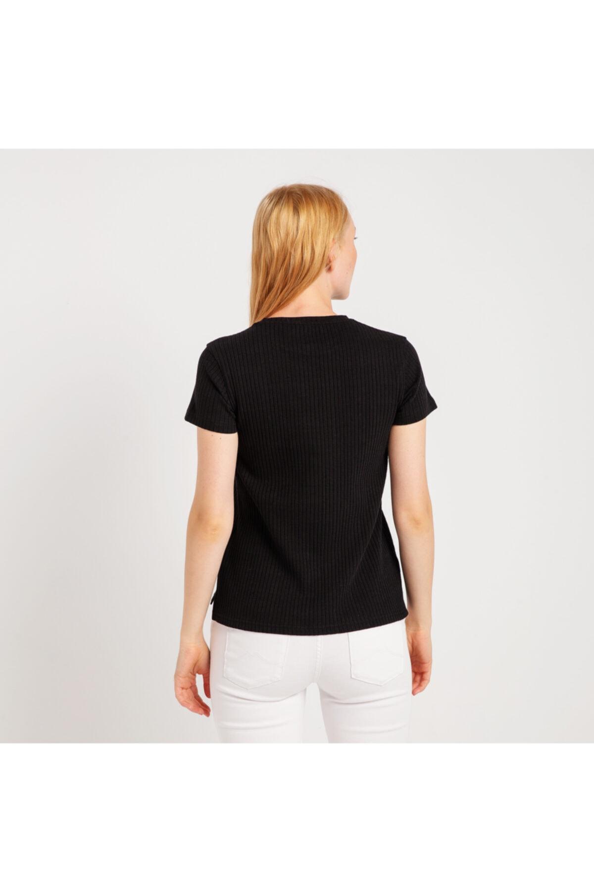 Mustang Kadın T-shirt Siyah 2