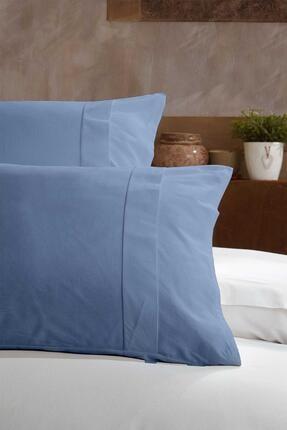 Elart Ranfors Pamuk Yastık Kılıfı %100 Doğal Pamuk 2 Parça Mavi