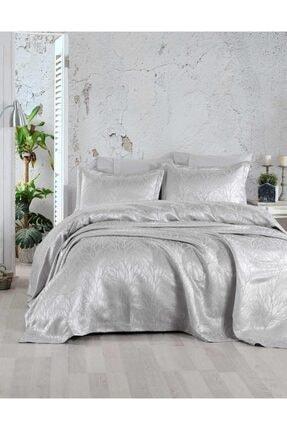 Elart Gümüş Rengi Çift Kişilik Yatak Örtüsü
