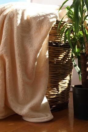 Elart Embos Battaniye Etnik Desen Çift Kişilik Cappuccino 220x240cm
