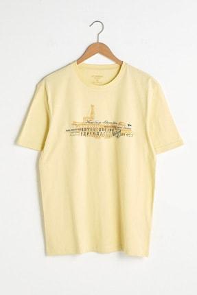 LC Waikiki Erkek Açık Sarı T-Shirt