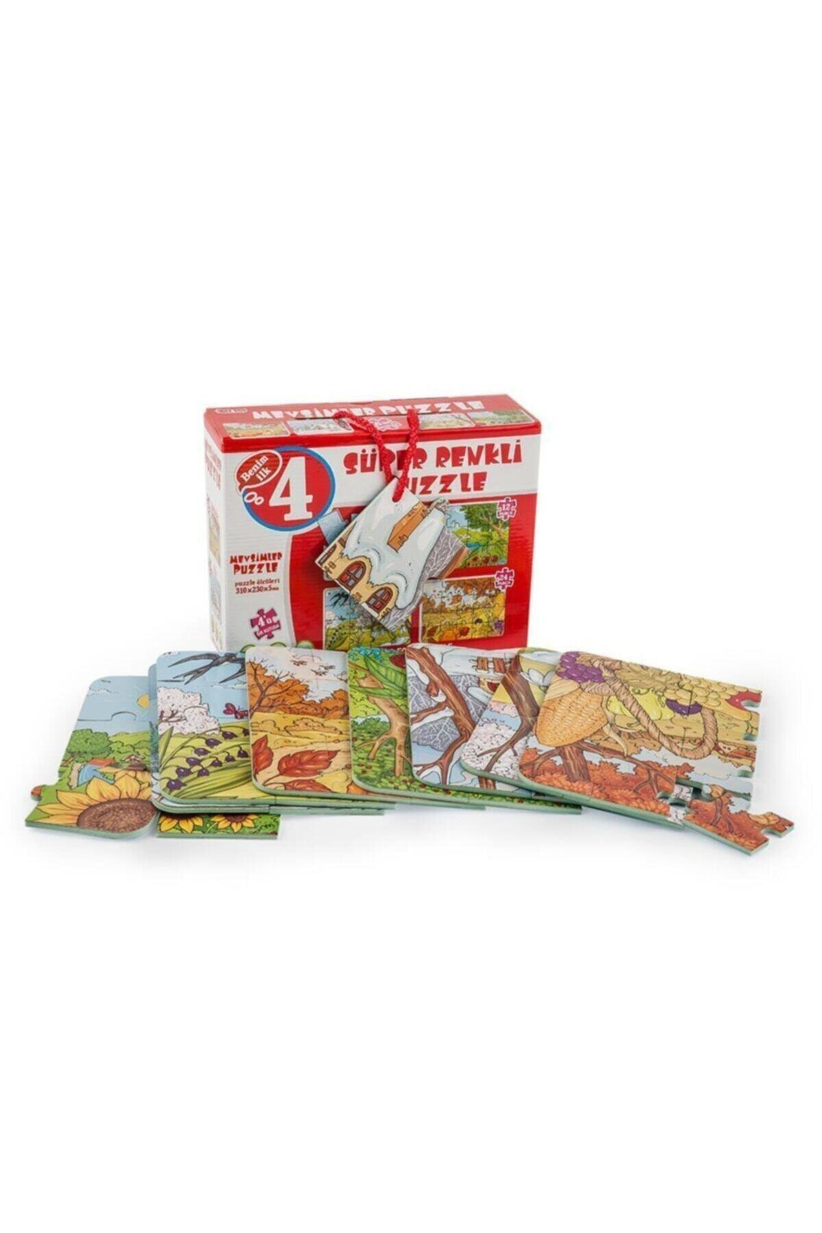 DIY Toys Diytoy Puzzle Süper Renkli Mevsimler 4'lü 1