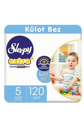 Sleepy Extra Günlük Aktivite Külot Bez 5 Numara Junior 120 Adet