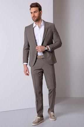 Pierre Cardin Erkek Açık Kahverengi Ekstra Slim Fit Takım Elbise