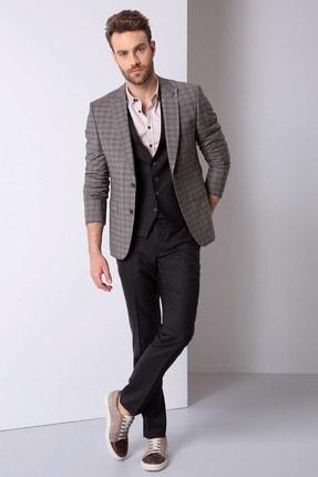 Pierre Cardin Erkek Kahverengi Slim Fit Takım Elbise