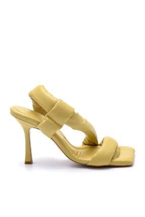 Sofia Baldi Kadın Sarı Topuklu Sandalet
