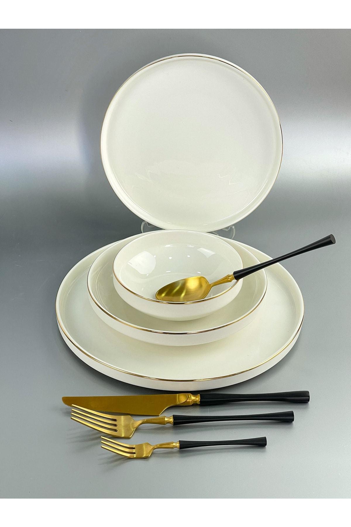 Pink&More Modern Gold 48 Parça Lüx Porselen Yemek Tk 12 Kişilik 2