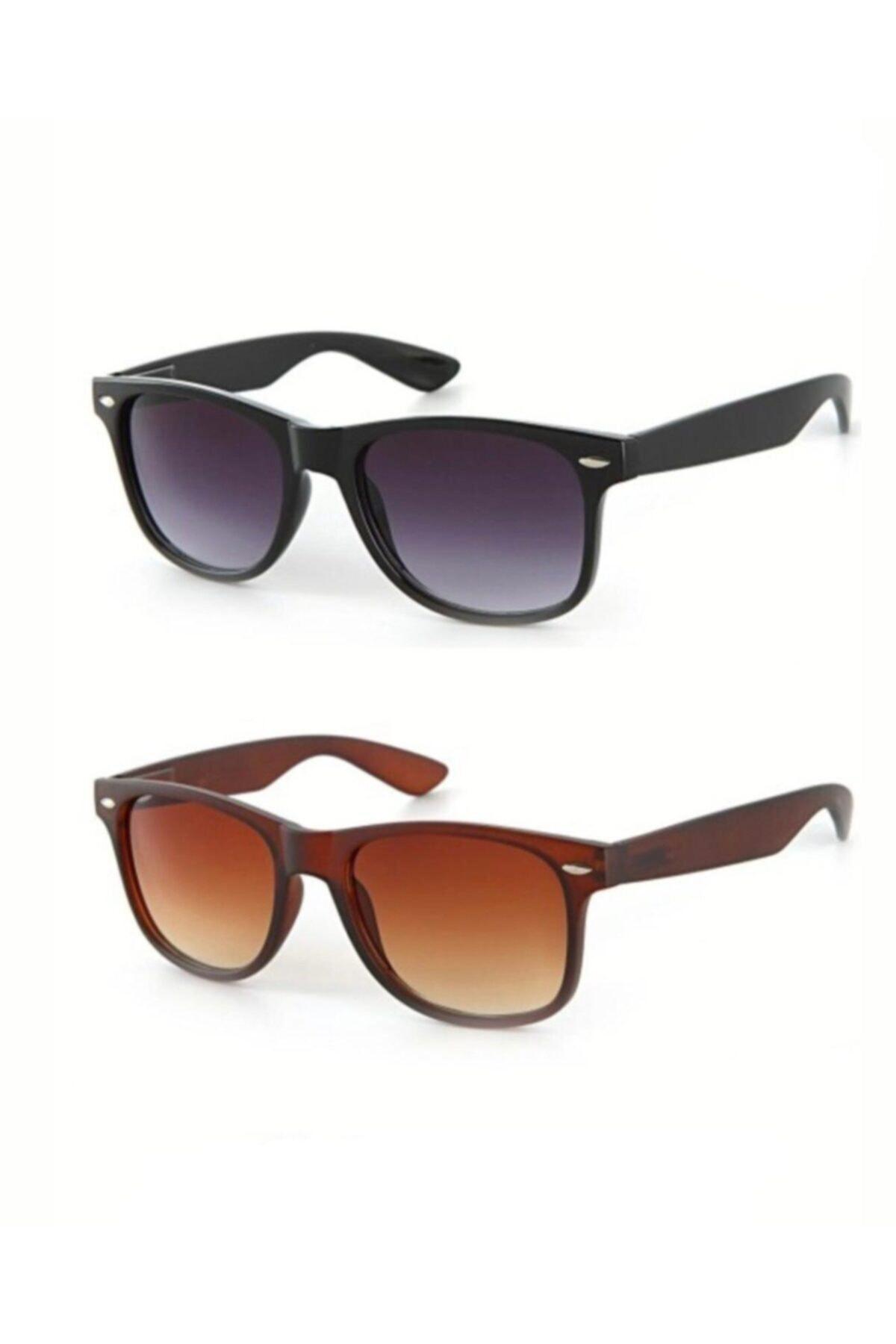 ModaLucci Unisex Güneş Gözlüğü 2'li 1