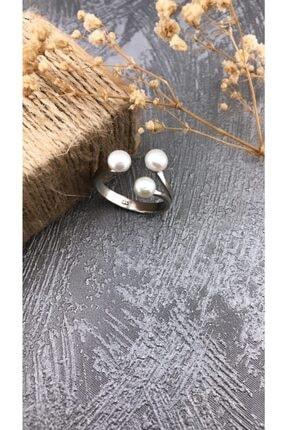 Joel Jewelry Inci Taşlı Rodyum Kaplamalı Şık Gümüş Yüzük