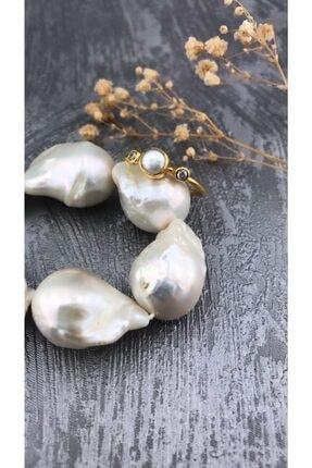 Joel Jewelry Inci Ve Zirkon Taşlı Altın Kaplamalı Gümüş Yüzük
