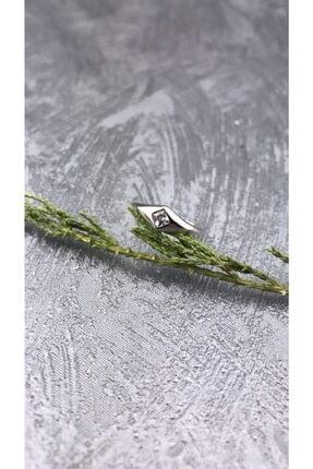 Joel Jewelry Zirkon Taşlı Rodyum Kaplamalı Minimal Gümüş Yüzük