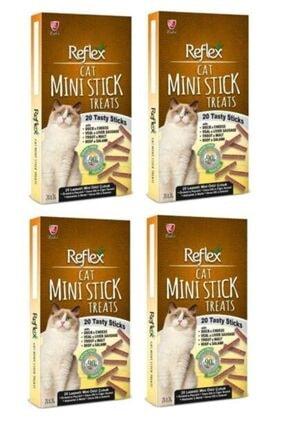 Reflex 4 Lü Mini Stick Tahılsız Kedi Ödül Çubukları 20 X2 gr / 4 Adet