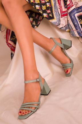 SOHO Yeşil Kadın Klasik Topuklu Ayakkabı 15831