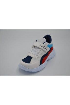 Pierre Cardin 31-35 Beyaz Lacivert Çocuk Spor Ayakkabı/beyaza Lacivert/33 Numara