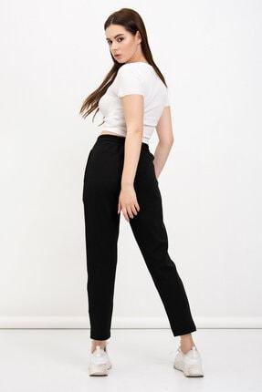 Mossta Kadın Siyah Cepli Çelik Pantolon