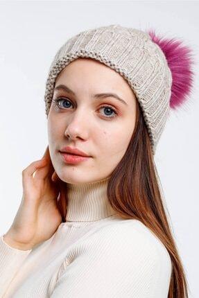 Mossta Premium Fox Beige Kadın Bere