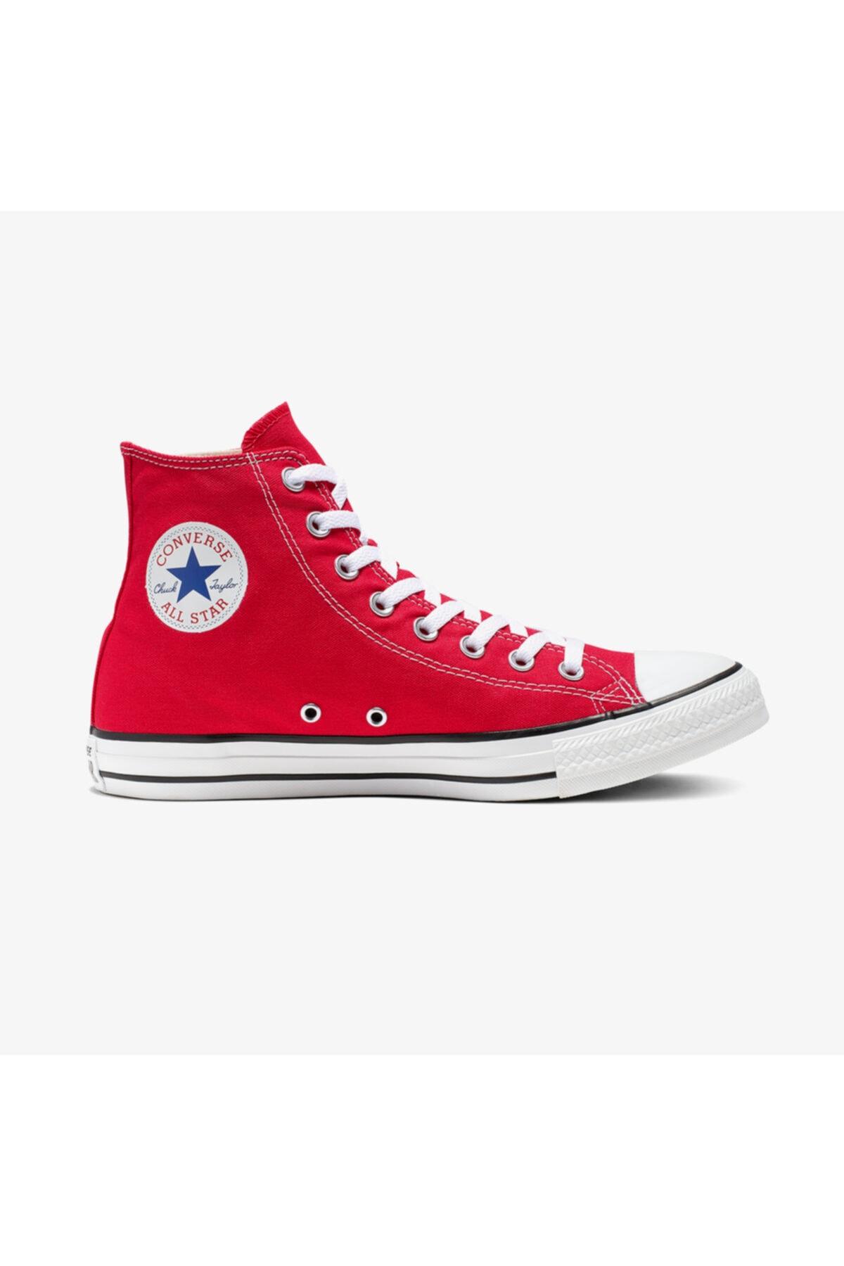 converse Unisex Kırmızı Chuck Taylor All Star Hi Sneaker Ayakkabı 1