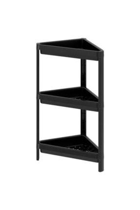 IKEA Banyo Raf Ünitesi Meridyendukkan Siyah Pratik Raf Ünitesi 33x33x71 Cm