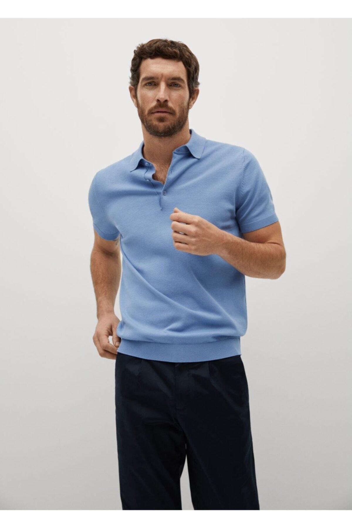 MANGO Man Triko Koton Polo Tişört 1